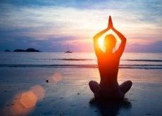 Yoga på strand
