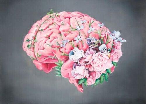 Hjärna med blommor