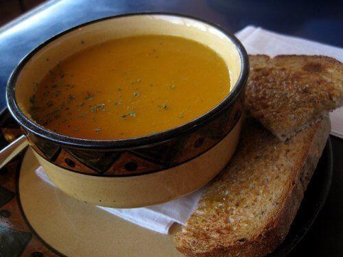 Banta snabbt med soppa