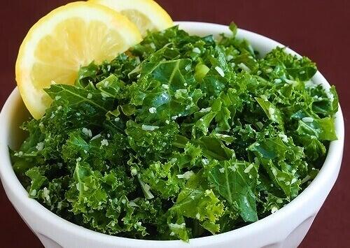 Citron och grönkål