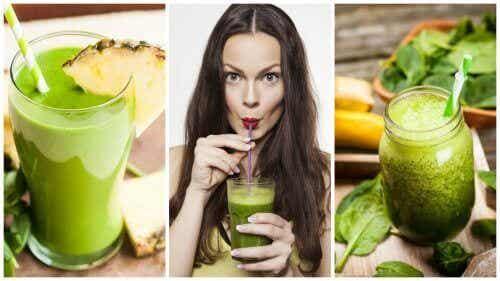 5 gröna smoothies för att avgifta kroppen och gå ner i vikt