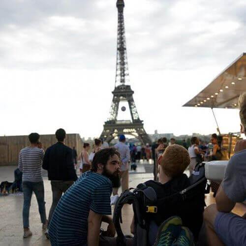 Vid Eiffeltornet