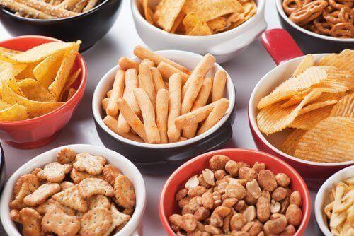 Undvik salta livsmedel