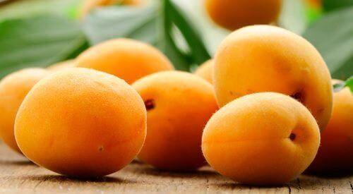aprikoser har mycket kalium