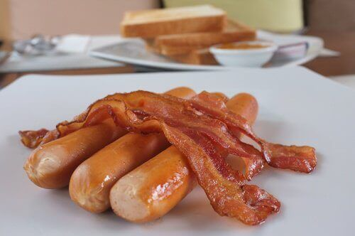 bacon och korv