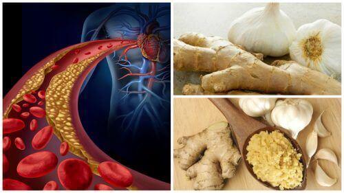 Motverka högt blodtryck och kolesterol med ingefära och vitlök
