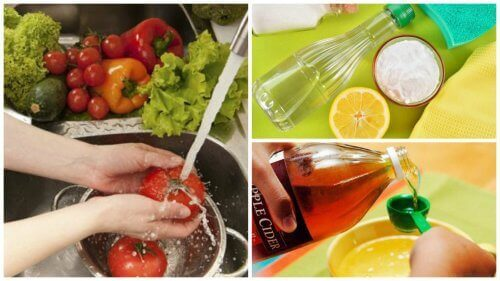 Desinficera frukt och grönsaker