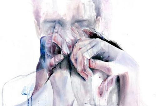 Gråtande man