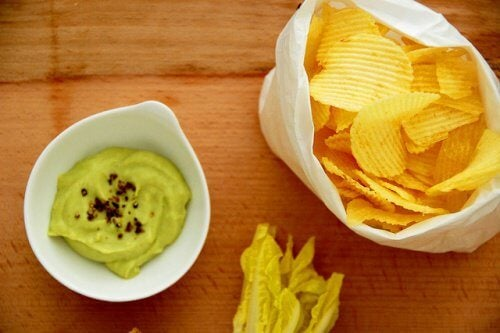 Guacamole med chips
