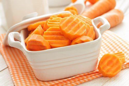 Skivade morötter