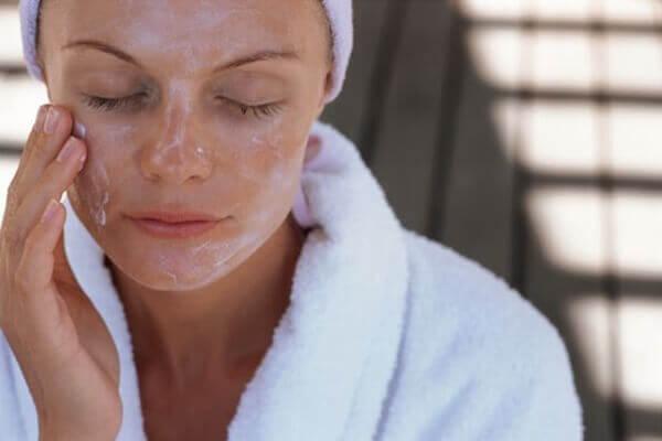 Ansiktsmask havregryn honung
