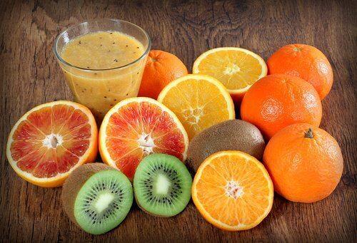 Frukter med C-vitamin