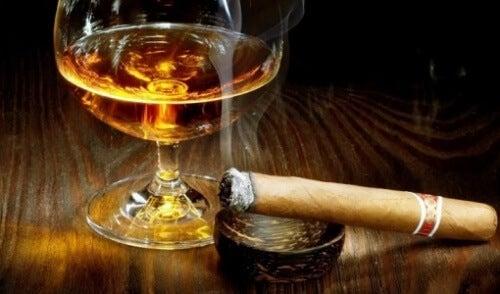 Cigarr och konjak
