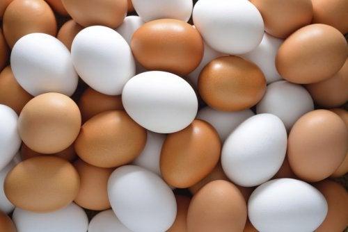 Hög med ägg