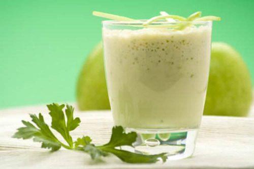 Grön smoothie med persilja