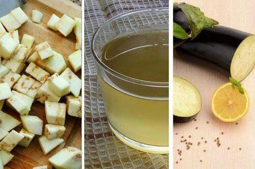 Hur man gör citron- och auberginevatten för viktminskning