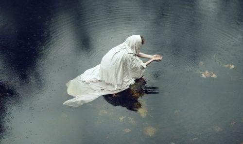 Person på vatten
