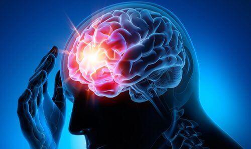 bråck i hjärnan