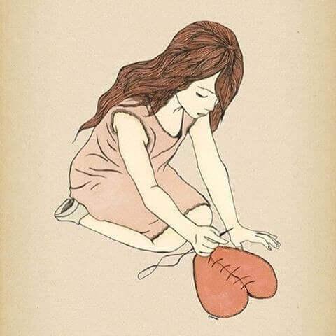 barn syr ihop sitt hjärta