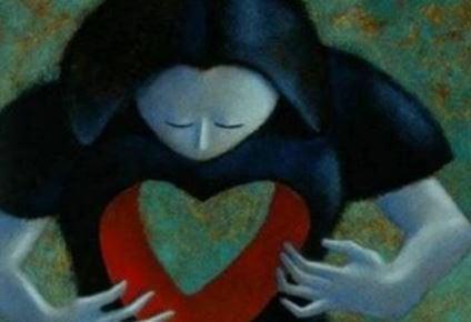 person som känner sitt hjärta