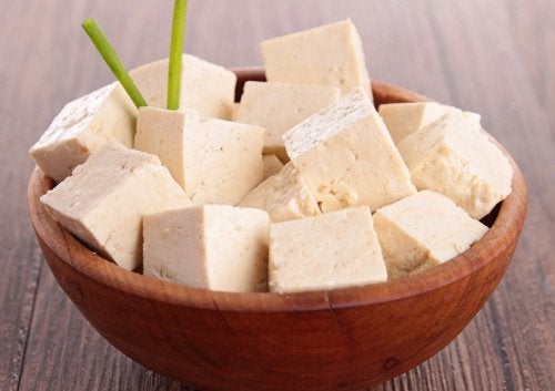 kubad tofu i skål