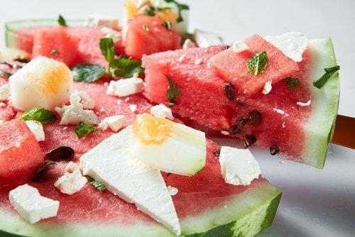 vattenmelon och fetaost