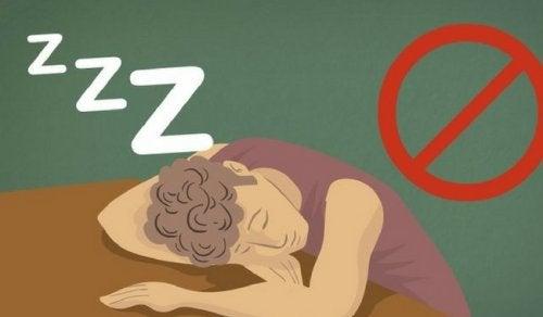 Konsekvens av att inte få tillräckligt med sömn