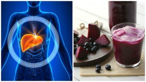 Avgifta levern med en blåbärs- och rödbetssmoothie