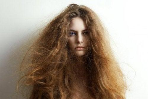 5 naturliga ingredienser för att behandla torrt hår