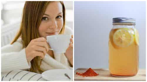 Må bättre i kroppen med gurkmeja och citronvatten