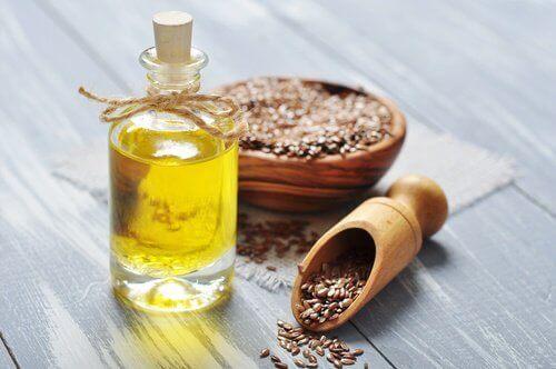 Linfröolja innehåller omega 3-fettsyror