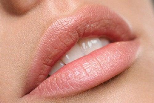 Återfuktade läppar