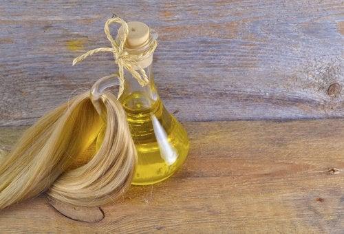 olja för håret