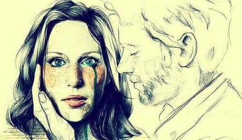 Kvinna gråter för att hon är med fel person