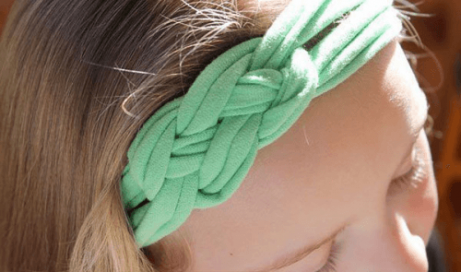 Knutet hårband