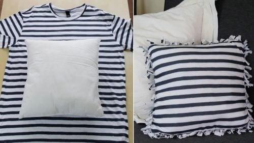 Nya kuddar av gamla tröjor