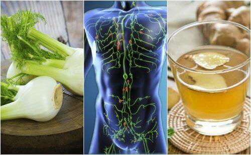 Rensa lymfsystemet med 6 naturliga kurer