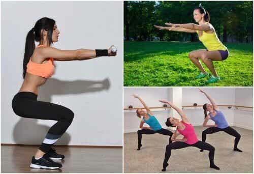 6 varianter av knäböj för att träna benen hemma
