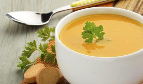 Skål med soppa