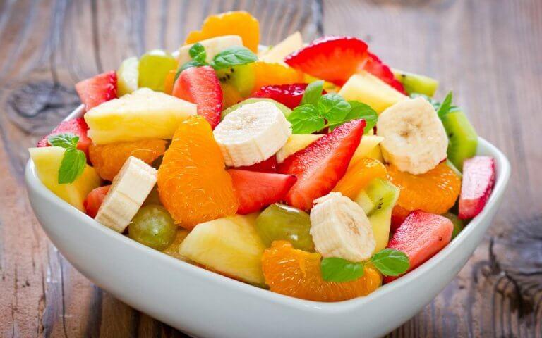 Skål med frukt