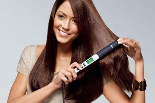 Plattänger kan skada håret