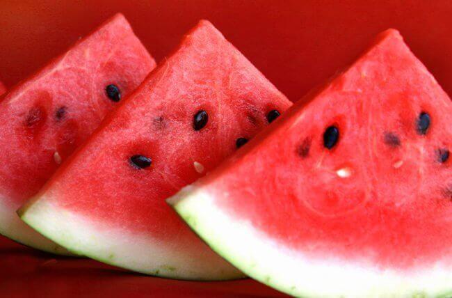 Vattenmelon i skivor