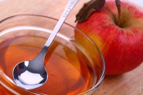Äppelcidervinäger är sammandragande
