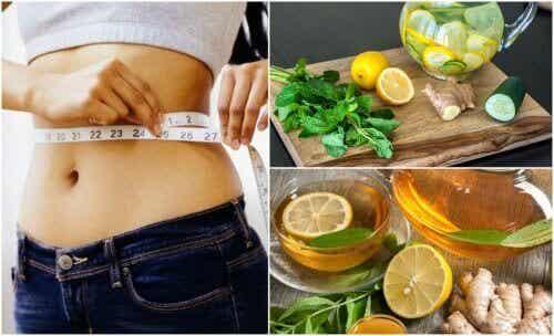 Motverka uppsvälldhet & tappa vikt med ingefära & citron