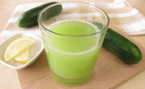 Juice med gurka och guava motverkar LDL-kolesterolet
