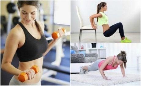 Få fasta armar med 6 enkla övningar