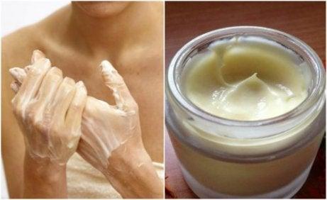 Fuktkräm för händerna med kakaosmör och vitamin E