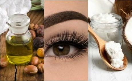 Vegetabiliska oljor för vackra ögonfransar