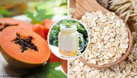 Förbättra matsmältningen med papaya- äpplesmoothie