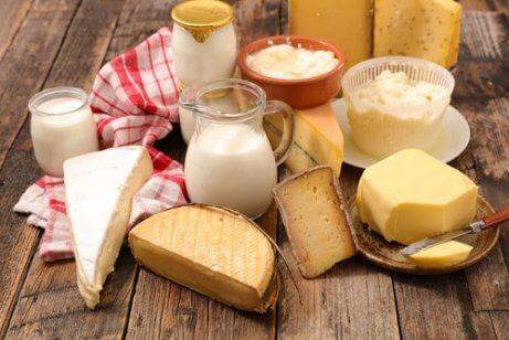 Undvik salt och mjölk